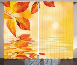 Magical Sun View Leaves Curtain