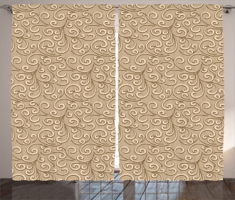 Damask Floral Victorian Curtain