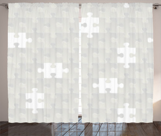 Puzzle Game Hobby Theme Curtain