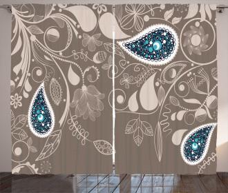 Orienta Swirled Branch Curtain