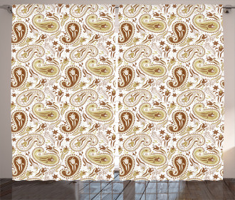Floral Paisley Tulips Curtain