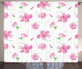 Floral Patterns Country Curtain