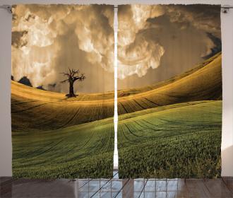 Landscape Sky Tree Curtain