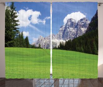 Rural Country Mountain Curtain