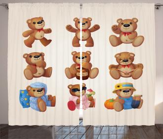 Teddy Bear Kids Design Curtain