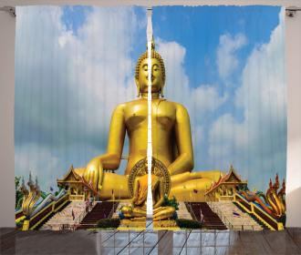 Thai Religious Flower Curtain