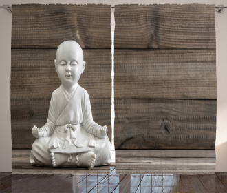 Meditating Asian Baby Curtain