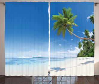 Ocean Summer Palms Curtain