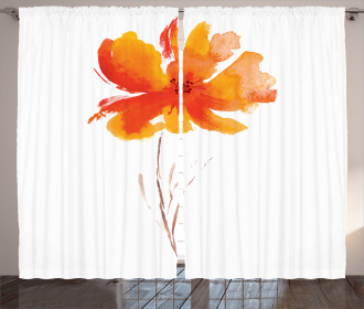 Romantic Poppy Curtain