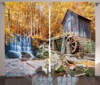 Historic Mill Autumn Curtain