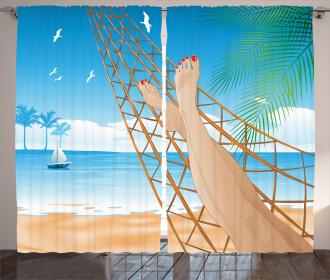 Hawaiian Ocean Hammock Curtain