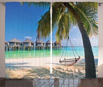 Caribbean Tropical Coast Curtain