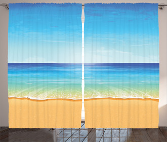 Exotic Hot Sunny Nature Curtain