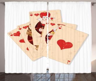 Gambler Queen Curtain