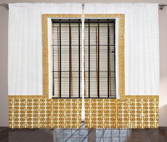 Modern Spanish Shutter Curtain