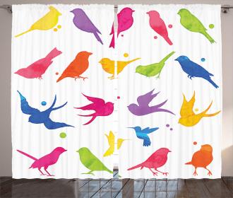 Flying Birds Friends Curtain