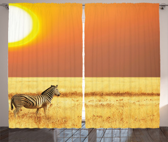 Tropical Animal Sunset Curtain