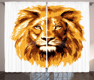 Tropics Safari Lion Art Curtain