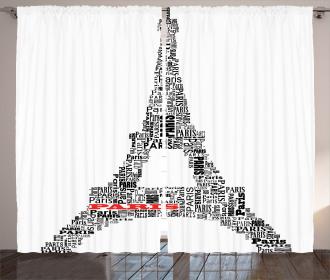 Paris France Tour Curtain