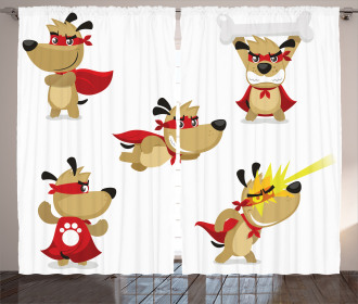 Superhero Puppy with Paw Curtain
