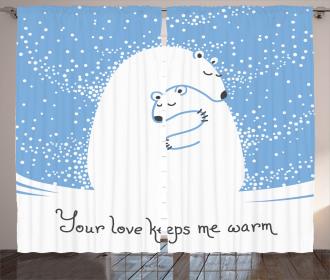 Polar Bear Mother Baby Curtain