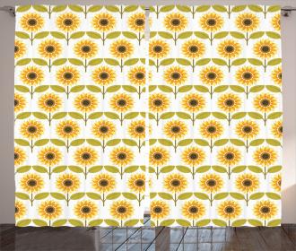 Sunflowers Retro Country Curtain