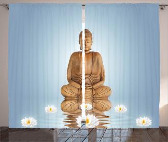 Meditation Zen Flower Curtain