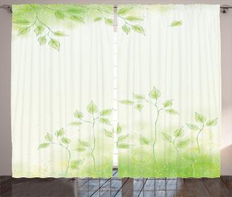 Fresh Leaves Botanic Eco Curtain