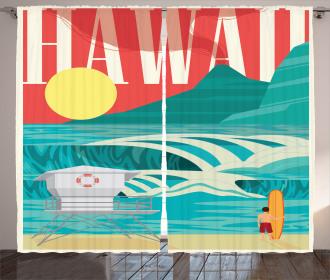 Hawaii Holiday Coast Curtain