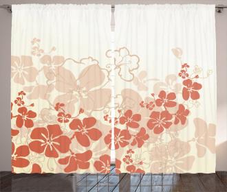 Hawaii Flowers Tropical Curtain