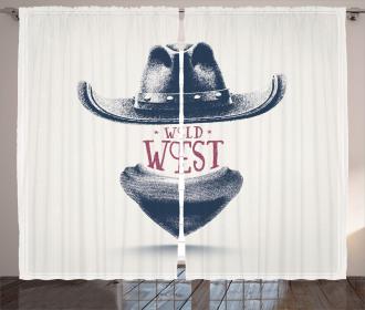 Wild West Cowboy Hat Curtain