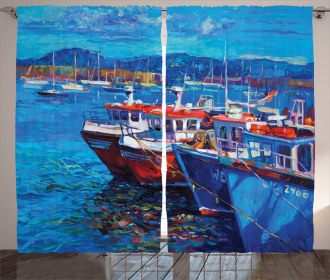 Harbour by the Sea Curtain