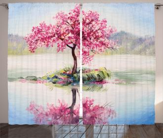 Japanese Cherry Tree Curtain