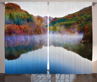 Lake Mountain Scenery Curtain