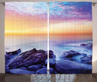 Morning Rainbow Colors Curtain