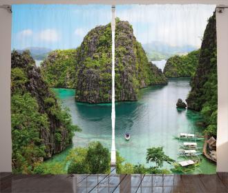 Cliff in Philippines Curtain