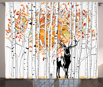 Trees Foliage Wilderness Curtain