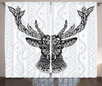 Bohem Ethnic Deer Curtain
