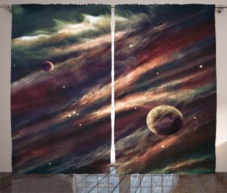 Nebula Planet Cloud Curtain