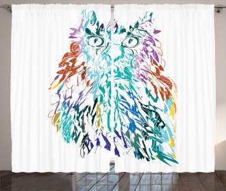 Feathers Eyes Vision Curtain