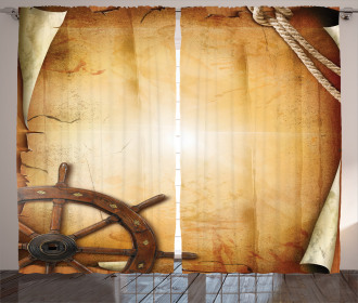Old Paper Effect Wheel Curtain