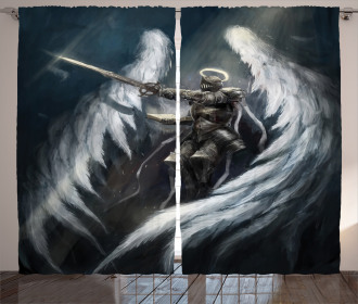 Angel Knight White Wing Curtain