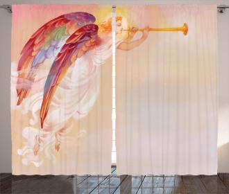 Flask Wings Prayer Curtain