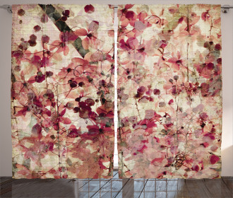 Cherry Blossoms Floral Curtain