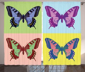 Pop Art Swallowtail Curtain