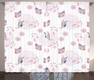 Romantic Spring Retro Curtain