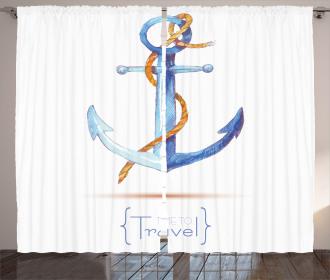 Classic Sail Rope Emblem Curtain