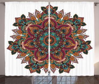 Ethnic Asian Pattern Curtain