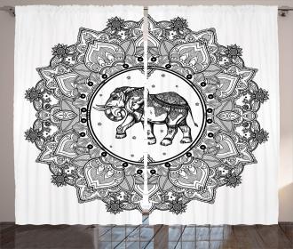 Digital Paisley Mandala Curtain