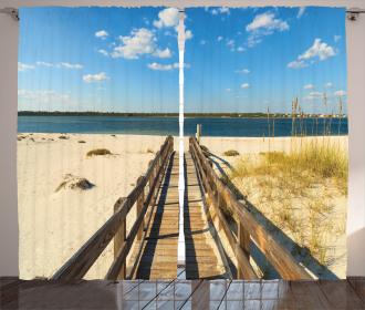 Perdido Beach Long Pier Curtain